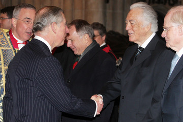 Richard Bonynge The Prince Of Wales Attends A Service Of Thanksgiving For Dame Joan Sutherland
