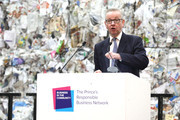 Secretary of State for Environment, Michael Gove speaks on stage during a Waste-To-Wealth Summit at Southwark Integrated Waste Management Facility on November 22, 2018 in London, England..The Prince of Wales, President and Royal Founding Patron of Business in the Community (BITC.), will attend BITC's Waste-to-Wealth Summit. BITC is convening the Waste-to-Wealth Summit at which 200 leaders from business, government, academia and civil society will come together to tackle one of challenges of our time; to commit to work collectively to create new solutions that will increase resource productivity and reduce avoidable waste.