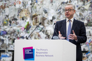 Secretary of State for Environment, Michael Gove speaks on stage during a Waste-To-Wealth Summit at Southwark Integrated Waste Management Facility on November 22, 2018 in London, England.The Prince of Wales, President and Royal Founding Patron of Business in the Community (BITC.), will attend BITC's Waste-to-Wealth Summit. BITC is convening the Waste-to-Wealth Summit at which 200 leaders from business, government, academia and civil society will come together to tackle one of the challenges of our time; to commit to work collectively to create new solutions that will increase resource productivity and reduce avoidable waste.