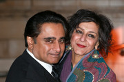 Sanjeev Bhaskar and Meera Syal attend a reception and dinner for supporters of The British Asian Trust at the Natural History Museum on February 2, 2016 in London, England.