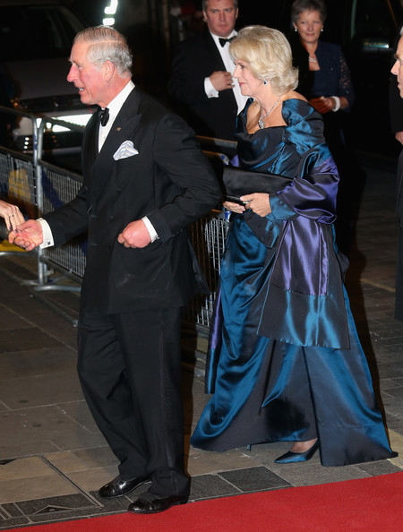 Camilla, Duchess of Cornwall and Prince Charles, Prince of Wales attend the Royal Variety Performance at London Palladium on November 25, 2013 in London, England.