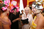 Camilla, Duchess of Cornwall (second right) speaks to guests as she and Prince Charles, Prince of Wales host a reception for the Elephant Family Animal Ball at Clarence House on June 13, 2019 in London, England. Elephant Family is an international NGO dedicated to protecting the Asian elephant from extinction in the wild.