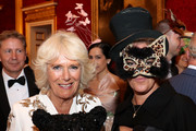 Camilla, Duchess of Cornwall and Tracey Emin attend a reception hosted by the Duchess and Prince Charles, Prince of Wales for the Elephant Family Animal Ball at Clarence House on June 13, 2019 in London, England. Elephant Family is an international NGO dedicated to protecting the Asian elephant from extinction in the wild.