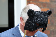 Prince Charles, Prince of Wales holds a face mask as he and Camilla, Duchess of Cornwall host a reception for the Elephant Family Animal Ball at Clarence House on June 13, 2019 in London, England. Elephant Family is an international NGO dedicated to protecting the Asian elephant from extinction in the wild.