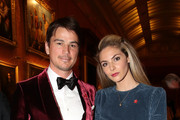 Josh Hartnett and Tamsin Egerton attend a dinner to celebrate The Prince's Trust, hosted by Prince Charles, Prince of Wales at Buckingham Palace on March 12, 2019 in London, England. The Prince of Wales, President, The Prince's Trust Group hosted a  dinner for donors, supporters and ambassadors of Prince's Trust International.