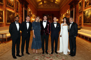 (L-R) Chiwetel Ejiofor, Luke Evans, Tamsin Egerton, Josh Hartnett, Benedict Cumberbatch, Amal Clooney and George Clooney attend a dinner to celebrate The Prince's Trust, hosted by Prince Charles, Prince of Wales at Buckingham Palace on March 12, 2019 in London, England. The Prince of Wales, President, The Prince's Trust Group hosted a  dinner for donors, supporters and ambassadors of Prince's Trust International.