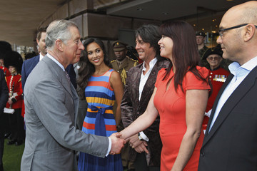 Myleene Klass Lawrence Llwelyn Bowen The Prince Of Wales Visits The Ideal Homes Show