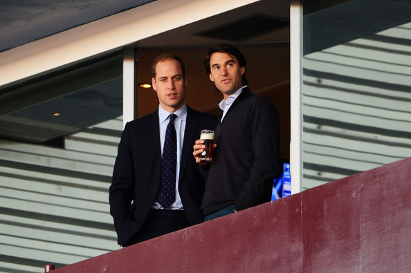 Prince William Prince William, Duke of Cambridge (L) attends the Barclays Premier League match between Aston Villa and Sunderland at Villa Park on November 30, 2013 in Birmingham, England.