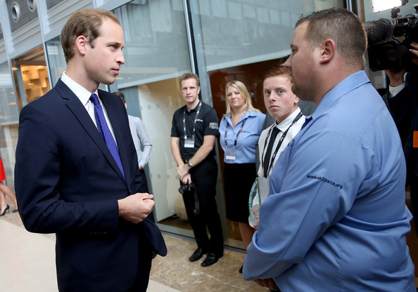 Prince William - British Princes Attend BGC Partners Charity Day