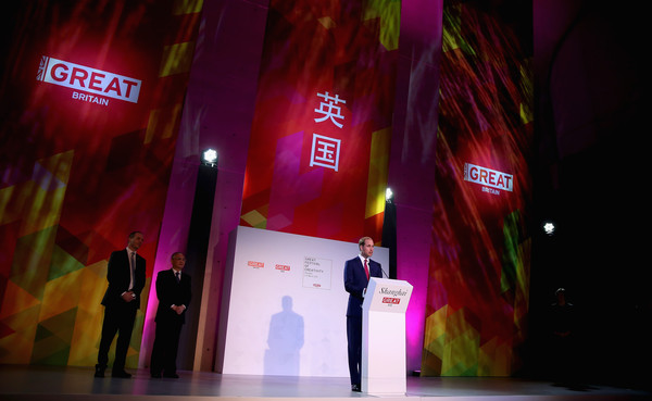 Prince William Prince William, Duke of Cambridge gives a speech at the GREAT Festival of Creativity on March 2, 2015 in Shanghai, China. Prince William, Duke of Cambridge is on a four day visit to China. He is the most senior royal to visit China since the Queen and Duke of Edinburgh in 1986. His visit follows on from a successful four day visit to Japan