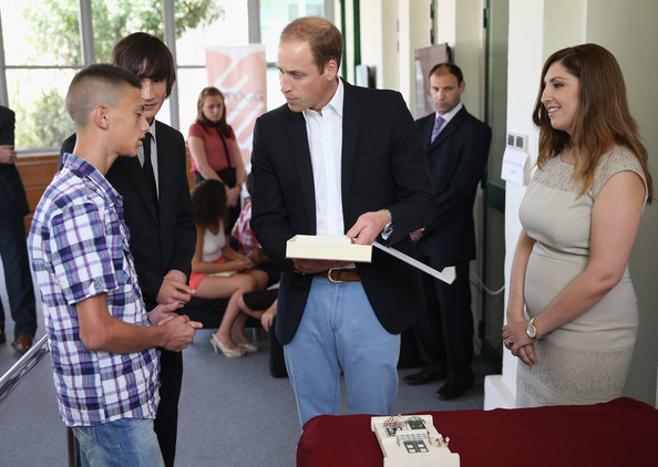 Prince William Prince William, Duke of Cambridge chats with young people as he visits an Access Centre for young people called Agenzija Appogg during an official visit to Malta on September 21, 2014 in Valletta, Malta. Prince William, Duke of Cambridge is making an official two day visit to Malta as a representative of Queen Elizabeth II. Originally the Duchess of Cambridge was due to make the trip as her first solo overseas engagement as part of Malta's fiftieth Anniversary of Independance but had to cancel due to acute morning sickness with her second child.