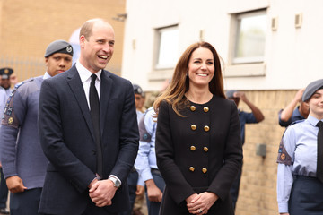 Prince William The Duke And Duchess Of Cambridge Visit The Air Cadets At 282 East Ham Squadron