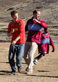 Prince Harry and Prince William play in a football match during a visit to a child education centre on June 17, 2010 in Semonkong, Lesotho. The two Princes are on a joint trip to Africa which takes in Botswana, Lesotho and finally South Africa. During that time they will visit a number of projects supported by their respective charities Sentebale (Prince Harry) and Tusk Trust (Prince William). The trip will culminate with the brothers watching the England vs Algeria World Cup match in Cape Town.