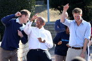 Prince Harry and Prince William dance with Prince Seeiso as they visit the Mamahato Network Club for children affected by HIV at King Letsie's Palace on June 17, 2010 in Maseru, Lesotho. The two Princes are on a joint trip to Africa which takes in Botswana, Lesotho and finally South Africa. During that time they will visit a number of projects supported by their respective charities Sentebale (Prince Harry) and Tusk Trust (Prince William). The trip will culminate with the brothers watching the England vs Algeria World Cup match in Cape Town.