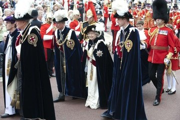 Prince William Prince Charles The Order of the Garter Service in Windsor