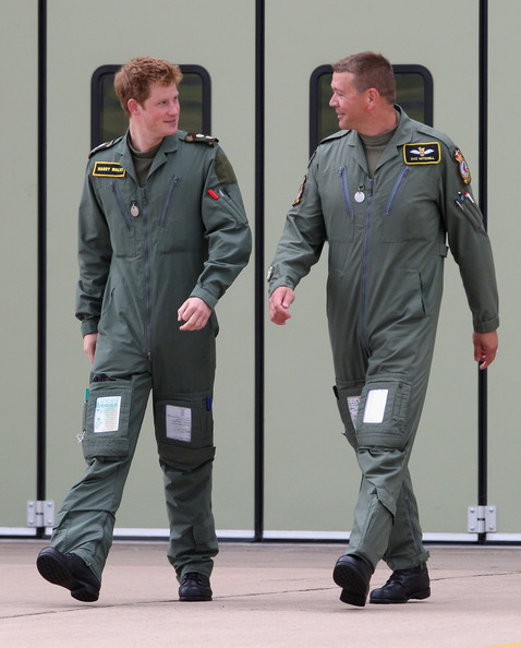 Daz Mitchell In Prince William And Prince Harry Visit RAF