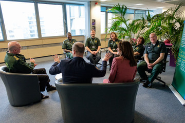 Prince William The Duke And Duchess Of Cambridge Visit The London Ambulance Service 111 Control Room