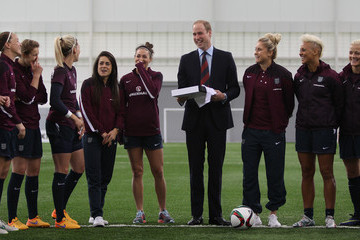Prince William The Duke of Cambridge Meets the Women's Team Ahead of FIFA Women's World Cup 2015