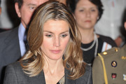 Princess Letizia of Spain attends the 7th International Congress for the Victims of Terrorism at Ecole Militaire on September 15, 2011 in Paris, France.