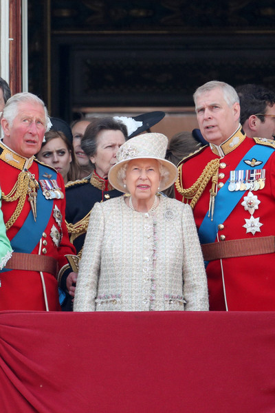 Princess Anne and Prince Charles Photos Photos - Trooping