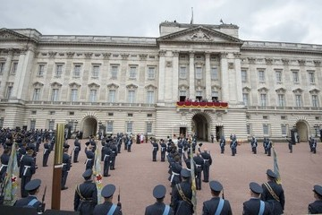Princess Anne Prince Edward Members Of The Royal Family Attend Events To Mark The Centenary Of The RAF