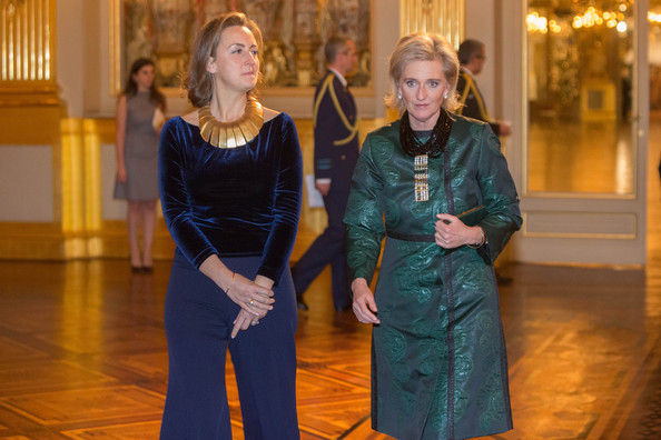 Belgian Royal Family Attends Christmas Concert  [astrid of belgium,claire,fashion,event,fun,performance,dress,dance,tourist attraction,belgian royal family attends christmas concert at royal palace,xmas concert,belgium,brussel,royal palace]