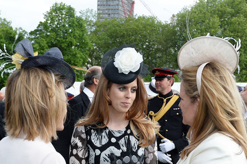 Princess Beatrice Elevated View Of The Queen's Garden Party