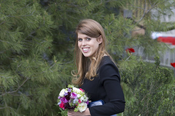 Princess Beatrice Chelsea Flower Show - Press Day 2016
