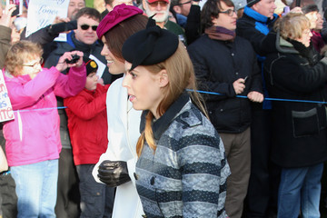 Princess Beatrice The Royal Family Attend Church On Christmas Day