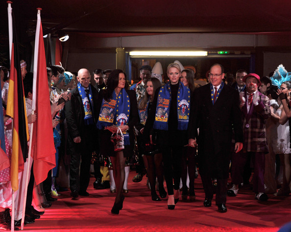 Princess Charlene of Monaco In this handout image provided by the Monaco Centre de Presse, (L-R) Princess Stephanie of Monaco, Camille Gottlieb, Princess Charlene of Monaco, Pauline Ducruet, and Prince Albert II of Monaco attend the opening ceremony of the Monte-Carlo 36th International Circus Festival on January 19, 2012 in Monte-Carlo, Monaco.