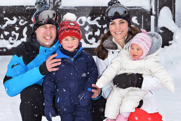 Princess Charlotte The Duke and Duchess of Cambridge Enjoy Skiing Holiday