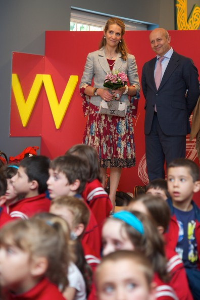 Princess Elena of Spain (L) and Spanish culture minister Jose Ignacio Wert (R) attend the opening of Madrid Book fair 2014 at the Retiro Park on May 30, 2014 in Madrid, Spain.