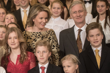 Princess Elisabeth Belgian Royal Family Attends Christmas Concert At Royal Palace In Brussels