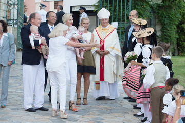 Princess Gabriella Prince Albert II and Princess Charlene of Monaco Attend Traditional'Pique Nique Monegasque'