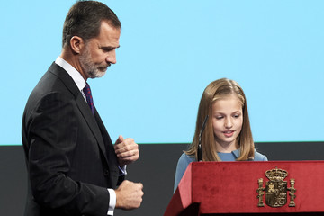 Princess Leonor Spanish Royals Attend The Lecture Of The Constitution On Its 40th Anniversary