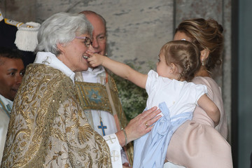 Princess Leonore of Sweden Christening of Prince Oscar of Sweden