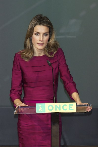RoyalDish - Letizia attending an event for a Spanish blind ...