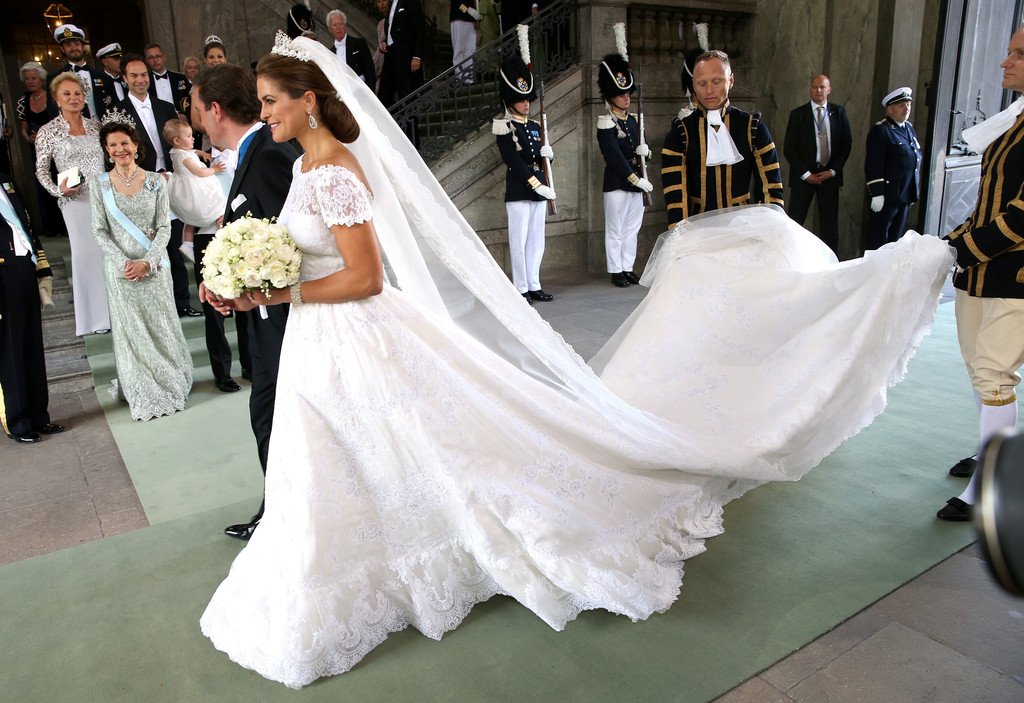 Princess Madeleine in a flowing Valentino gown ...