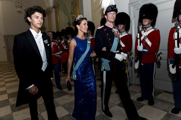 Princess Marie Crown Prince Frederik Of Denmark Holds Gala Banquet At Christiansborg Palace