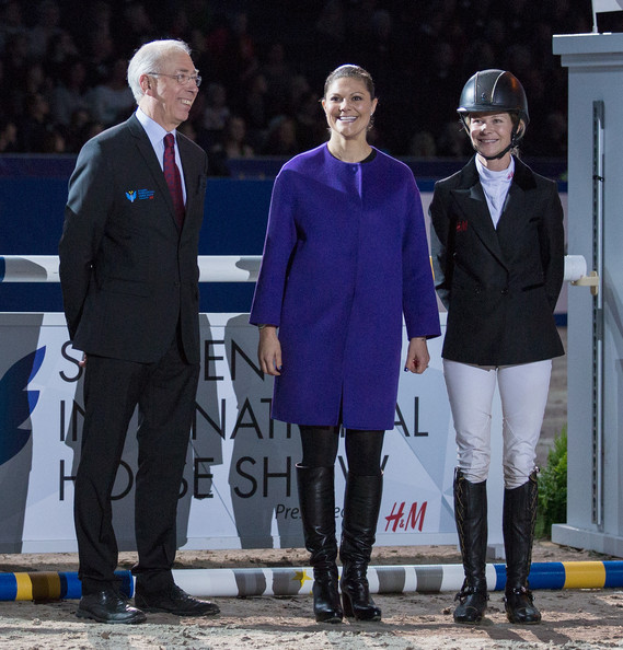 Princess Victoria Crown Princess Victoria of Sweden (M) and Malin Baryard-Johnsson (R) attends Sweden International Horse Show 2014 at Friends Arena on November 28, 2014 in Stockholm, Sweden.