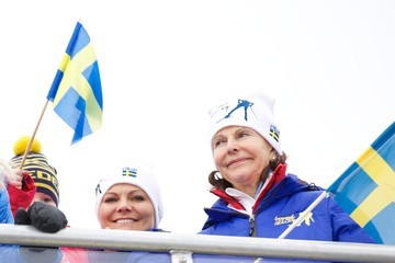 Princess Victoria Swedish Royals Attend World Ski Championships in Falun - Day 2