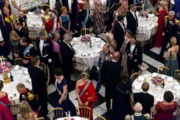 Princess Victoria Crown Prince Frederik Of Denmark Holds Gala Banquet At Christiansborg Palace