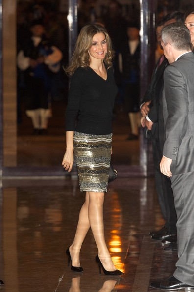 "Princess Letizia of Spain attends ""XXI Musical Week"" closing concert at the Auditorio Principe Felipe during the ""Prince of Asturias Awards 2012"" on October 25, 2012 in Oviedo, Spain."