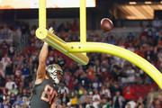 Team Irvin tight end Jimmy Graham #80 of the New Orleans Saints celebrates a fourth quarter touchdown during the 2015 Pro Bowl at University of Phoenix Stadium on January 25, 2015 in Glendale, Arizona.