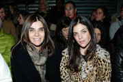Carine Roitfeld and Julia Restoin Roitfeld attend the Proenza Schouler fall 2013 fashion show during Mercedes-Benz Fashion Week on February 13, 2013 in New York City.