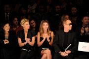 Lifetime CEO Andrea Wong, singer Faith Hill, Fashion Director of Elle and Marie Claire Nina Garcia and designer Michael Kors attend Project Runway Fall 2010 fashion show during Mercedes-Benz Fashion Week on February 12, 2010 in New York, New York.