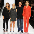She walks the runway with Heidi Klum and the 'Project Runway' crew.