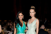 (L-R) Miss Universe Pia Wurtzbach and Miss USA Olivia Jordan attend Project Sunshine's 13th annual benefit celebration on May 05, 2016 in New York, New York.