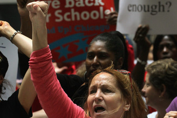 Cynthia Smith Protesters Demand Chicago Schools Negotiate With Union