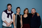(L-R) Actor Joe Swanberg, actress Kristina Klebe, actress Alexia Rasmussen and director Zack Parker of 'Proxy' pose at the Guess Portrait Studio during 2013 Toronto International Film Festival on September 9, 2013 in Toronto, Canada.